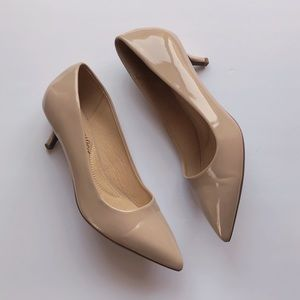 Cityclassified Nude Patent Leather Pumps